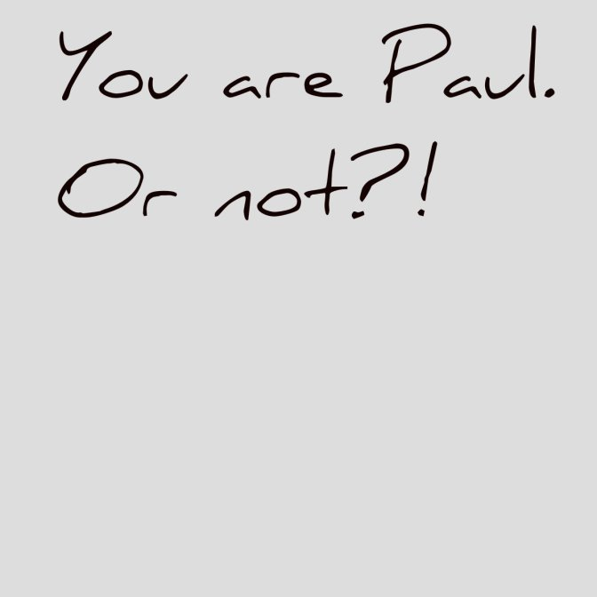 You are Paul